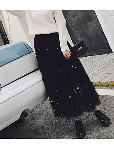 אחיד - חצאיות נדנדה סגנון רחוב בגדי ריקוד נשים / אביב