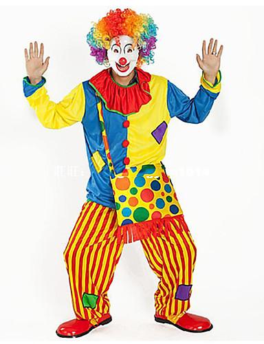 levne Cosplay a kostýmy-Burlesque / Klaun Cirkus Cosplay Kostýmy Kostým na Večírek Dospělé Vtipné a neochotné Karneval Festival / Svátek Polyester Duhová Karnevalové kostýmy Barevné bloky