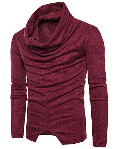 צבע אחיד - סוודר שרוול ארוך גולף בגדי ריקוד גברים
