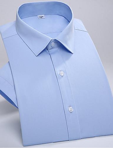 אחיד פשוט חולצה - בגדי ריקוד גברים / שרוול ארוך