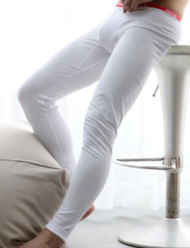 בגדי ריקוד גברים מיקרו-אלסטי אחיד-עבה מכנסיים ארוכים(כותנה)1 לבן שחור אפור
