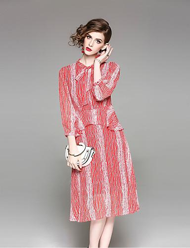 מידי דפוס שמלה נדן סגנון רחוב בגדי ריקוד נשים