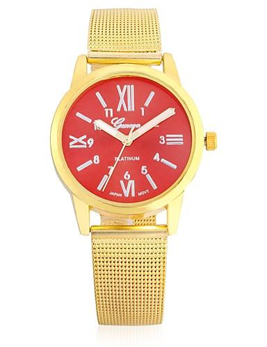 JUBAOLI בגדי ריקוד גברים / בגדי ריקוד נשים שעונים יום יומיים Chinese שעונים יום יומיים / מגניב סגסוגת להקה מדבקות עם נצנצים חום / זהב