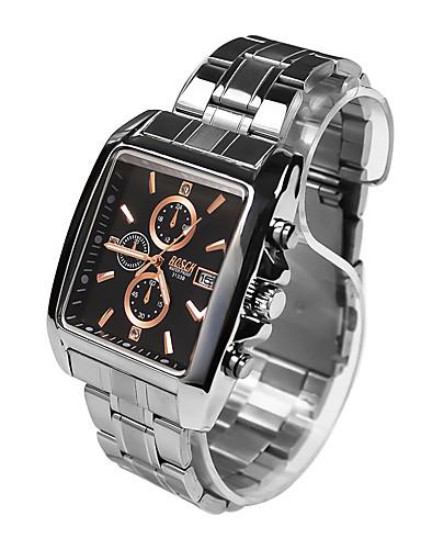 Homens Relógio Elegante Relógio de Moda Relógio Esportivo Quartzo Relógio Casual Aço Inoxidável Banda Casual Prata