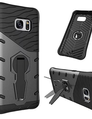 Pouzdro Uyumluluk Samsung Galaxy S7 360° Dönüş / Şoka Dayanıklı / Satandlı Arka Kapak Zırh Sert PC