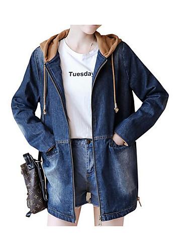 בגדי ריקוד נשים חום אפור L XL XXL ג'קט אחיד דפוס