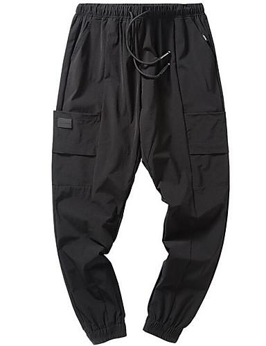 Męskie Puszysta Typu Chino Spodnie - Nadruk, Solidne kolory