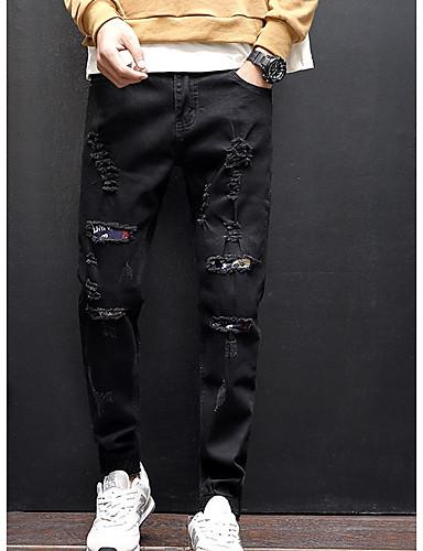 בגדי ריקוד גברים כותנה ג'ינסים מכנסיים אחיד