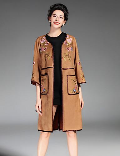 עכשווי מעיל - בגדי ריקוד נשים, רקום