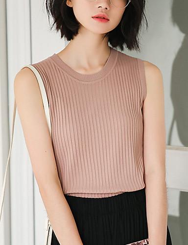 T-shirt Damskie Podstawowy, Styl klasyczny Solidne kolory