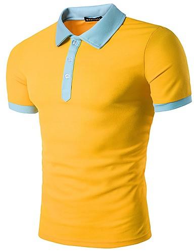 אחיד צווארון חולצה Polo - בגדי ריקוד גברים / שרוולים קצרים
