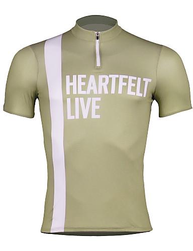 cheap Cycling Clothing-SPAKCT Men's Short Sleeve Cycling Jersey - Sky Blue Green Khaki Bike Jersey Quick Dry Sports 100% Polyester Mountain Bike MTB Road Bike Cycling Clothing Apparel / Stretchy / Advanced / Expert
