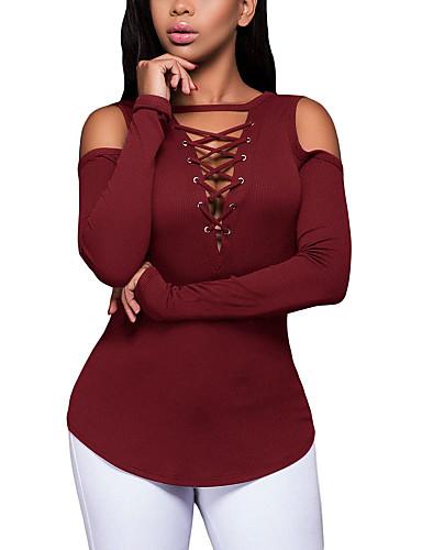T-shirt Damskie Aktywny Moda miejska Jendolity kolor