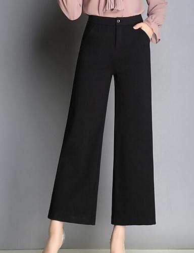 Damskie Bawełna Typu Chino Spodnie Solidne kolory