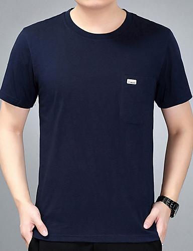 T-shirt Męskie Podstawowy Solidne kolory / Krótki rękaw