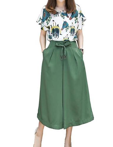 abordables Hauts pour Femmes-Femme Grandes Tailles Basique Chemise - Géométrique, Imprimé Pantalon Col de Chemise / Eté