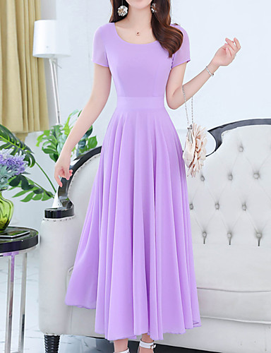 02ff5da497b Women s Plus Size Daily Holiday Boho Sophisticated Slim Sheath Swing Dress  - Solid Colored Red U Neck Summer Red Purple Lavender XL XXL XXXL