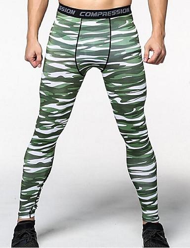 Homme Pantalon de compression Collants de Course Running Vert Bleu Noir    Blanc Des sports camouflage Spandex Pantalons   Surpantalons Vêtements de  ... 1a01c8ca46d