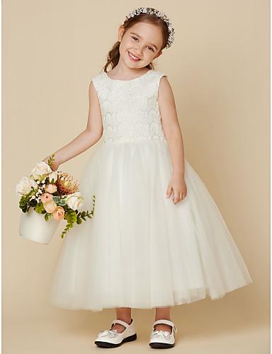 328714511c3 play video. cheap Flower Girl Dresses-Princess Knee Length Flower Girl Dress  - Lace ...