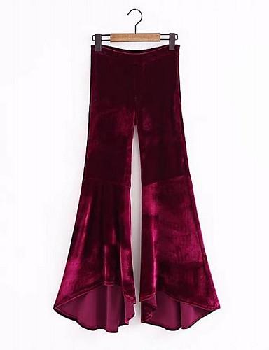 Damskie Prosty Spodnie szerokie nogawki Spodnie Jendolity kolor