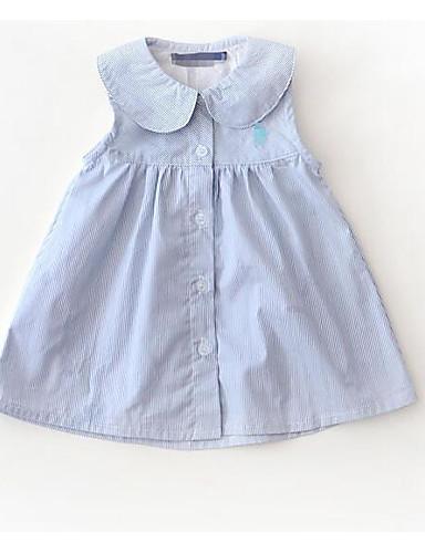 Niemowlę Dla dziewczynek Podstawowy Jendolity kolor Bez rękawów Sukienka
