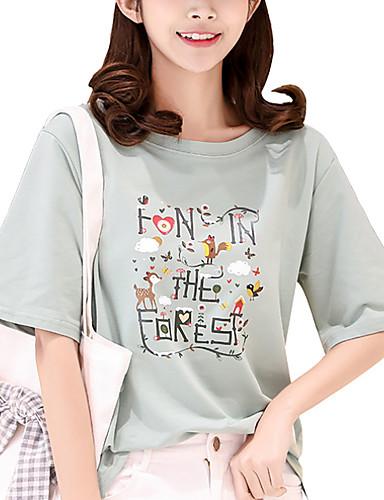 T-shirt Damskie Moda miejska Luźna - Geometric Shape