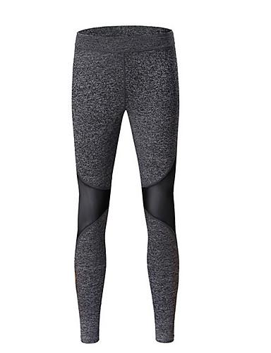 Damskie Sportowy Legging - Kolorowy blok Średni Talia
