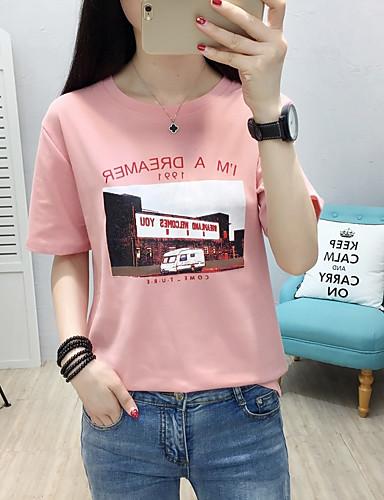 T-shirt Damskie Bawełna Litera / Litera