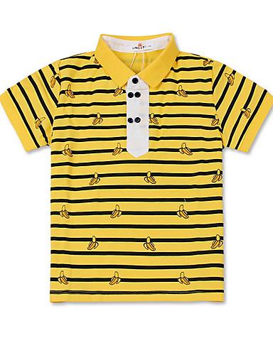 Dzieci Dla chłopców Podstawowy Prążki Krótki rękaw T-shirt