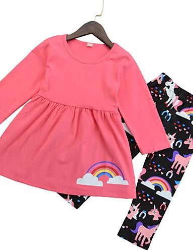 Dzieci Dla obu płci Jendolity kolor Długi rękaw Komplet odzieży