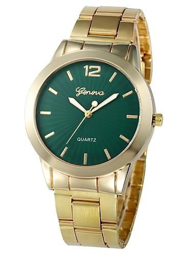 Недорогие Часы-браслеты-Жен. Часы-браслет золотые часы Кварцевый Золотистый Секундомер Очаровательный Творчество Аналоговый Дамы На каждый день Мода - Розовый Светло-синий Темно-зеленый Один год Срок службы батареи