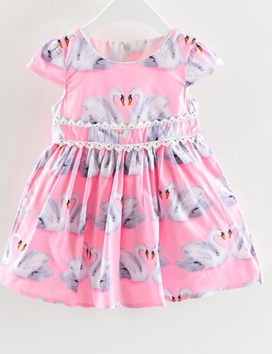 Dzieci Dla dziewczynek Geometryczny Krótki rękaw Sukienka