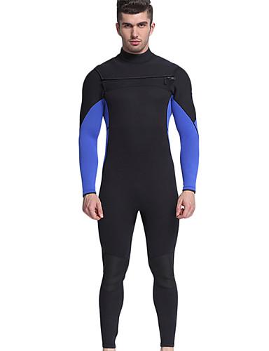 MYLEDI للرجال بدلة غطس كاملة 3mm النيوبرين سترات للغوص الدفء كم طويل السحاب الخلفي - سباحة / غوص / تزلج على الماء