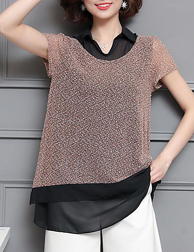 Pentru femei Guler Cămașă Bluză Mată