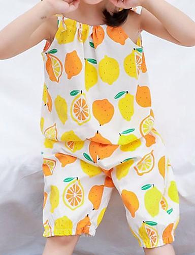 Dzieci Dla dziewczynek Nadruk / Owoc Bez rękawów Komplet odzieży