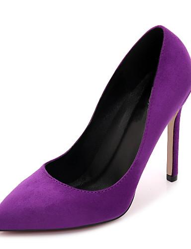 Damen Schuhe Stoff Frühling / Herbst High Heels Stöckelabsatz Gelb / Fuchsia / Khaki / Hochzeit / Party & Festivität / Kleid / Party & Festivität