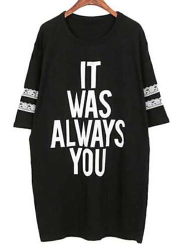 T-shirt Damskie Podstawowy Litera / Litera