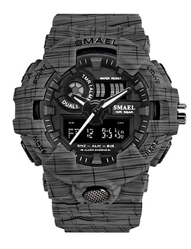 07a9191ac680 Mujer Reloj Deportivo Reloj digital Japonés Digital Silicona Negro 50 m  Resistente al Agua Calendario Creativo Analógico-Digital Gris Verde Azul  Dos año ...