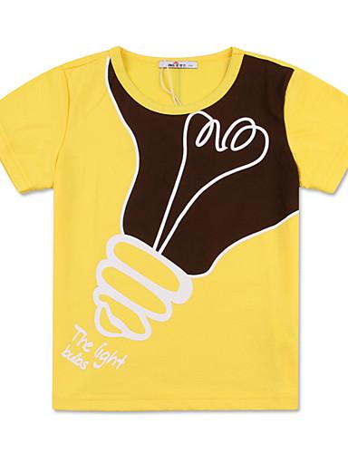 Dzieci Dla chłopców Aktywny Nadruk Nadruk Krótki rękaw Bawełna T-shirt