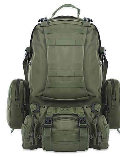 72d0a305e حقائب ظهر حقيبة الظهر العسكرية التكتيكية 40 L - مكتشف الأمطار يمكن ارتداؤها  في الهواء الطلق تخييم العسكرية السفر أكسفورد أخضر داكن CalfWidth كاكي