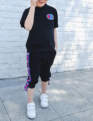 Dzieci Dla chłopców Nadruk Krótki rękaw Komplet odzieży
