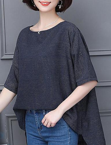 Cerca Voli T-shirt Per Donna Essenziale A Strisce Blu Scuro Xl #06683525