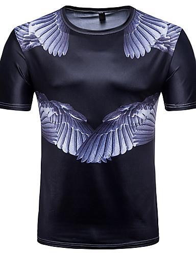 T-shirt Męskie Aktywny / Moda miejska, Nadruk Wielokolorowa