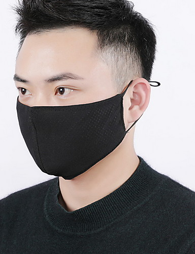 Męskie Podstawowy Mouth Mask - Bawełna, Solidne kolory