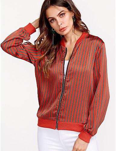 cămașă pentru femei - gât rotund dungat