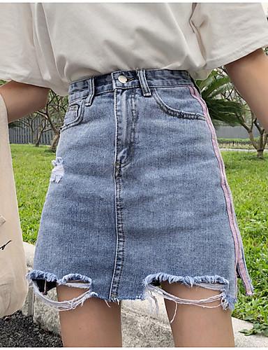 damskie powyżej kolan spódnice w linii - kolor bloku