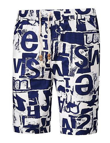 Bărbați Activ Pantaloni Scurți Pantaloni Scrisă