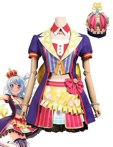 povoljno Anime kostimi-Inspirirana BanG Dream Cosplay Anime Cosplay nošnje Japanski Cosplay Suits Other Kratkih rukava Kaput / Top / Suknja Za Uniseks / Šešir