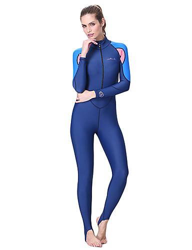 Dive&Sail Mulheres Segunda-pele para Mergulho SPF50, Proteção Solar UV, Secagem Rápida Elastano / Poliamida Corpo Inteiro Roupa de Banho Roupa de Praia Roupas de Mergulho Retalhos Zíper Frontal