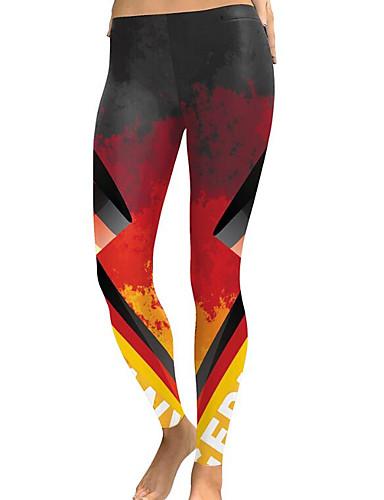 Pentru femei Ieșire / Gril pe Kamado Sport / De Bază Legging - Carouri Talie medie